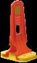 tablica-u24-pomaranczowa-z-pomaranczowa-podstawa